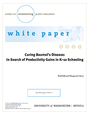 Title page of Curing Baumol's Disease