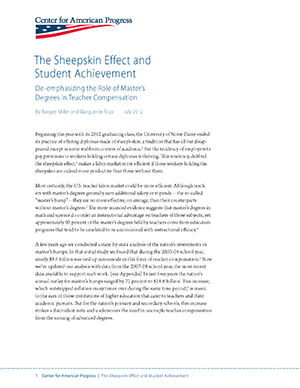 First page of The Sheepskin Effect article