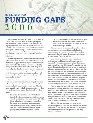 The Education Trust Funding Gaps 2006