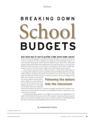 Breaking Down School Budgets first page of article